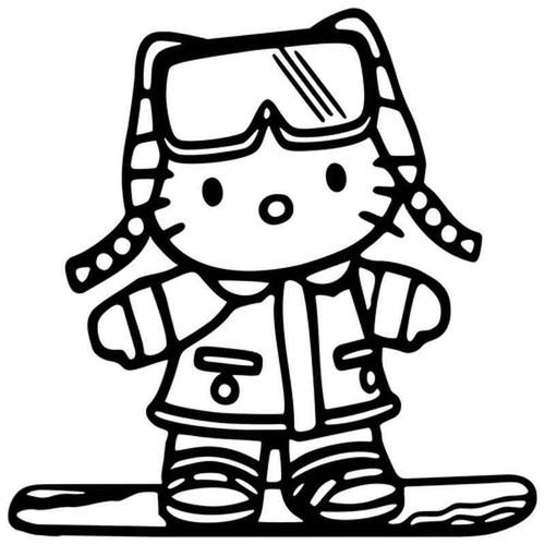 Hello Kitty Snowboard 780 Vinyl Sticker