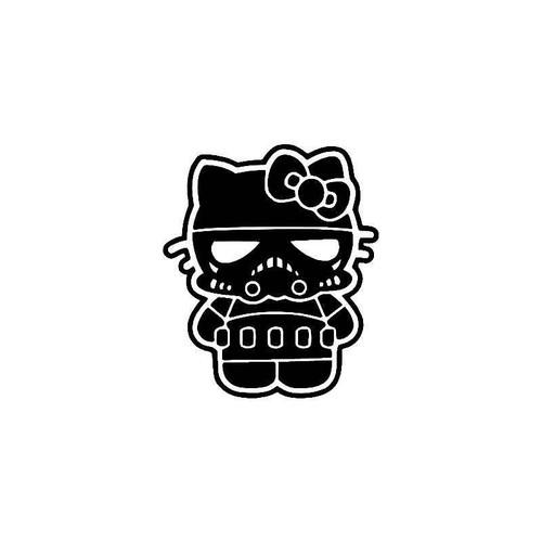 Hello Kitty Stormtrooper 2 Vinyl Sticker
