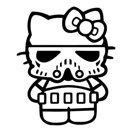 Hello Kitty Stormtrooper 3 Vinyl Sticker