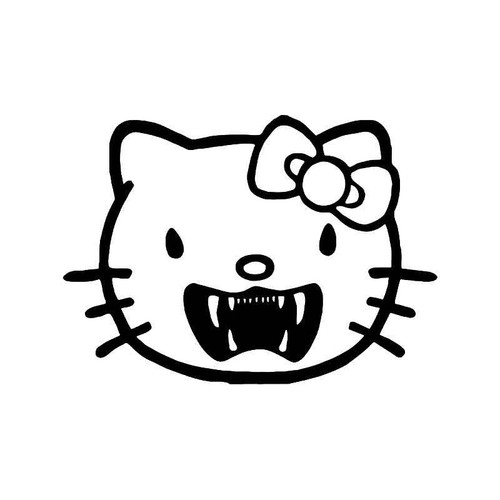 Hello Kitty Vampire Fangs 1 Vinyl Sticker