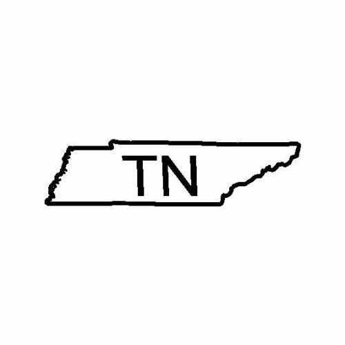 States Tennessee  Vinyl Decal Sticker  Size option will determine the size from the longest side Industry standard high performance calendared vinyl film Cut from Oracle 651 2.5 mil Outdoor durability is 7 years Glossy surface finish