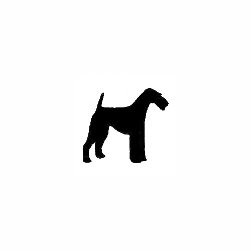Airedale Standing Solid Decal Size option will determine the size from the longest side Industry standard high performance calendared vinyl film Cut from Oracle 651 2.5 mil Outdoor durability is 7 years Glossy surface finish