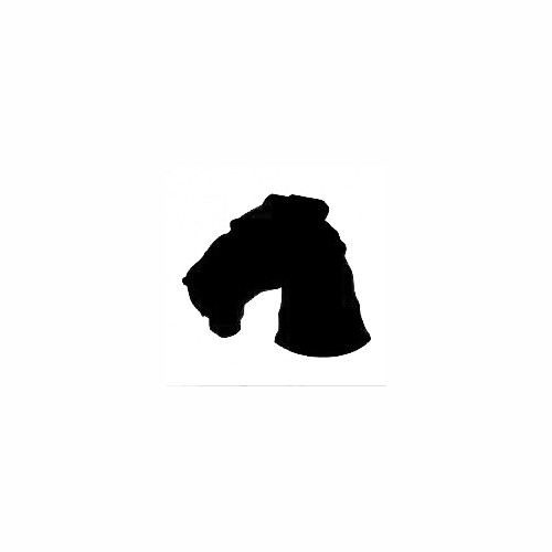 Airedale Terrier Head Solid Decal Size option will determine the size from the longest side Industry standard high performance calendared vinyl film Cut from Oracle 651 2.5 mil Outdoor durability is 7 years Glossy surface finish