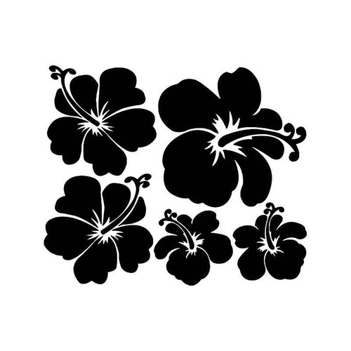 Hibiscus Flowers 1 Vinyl Sticker