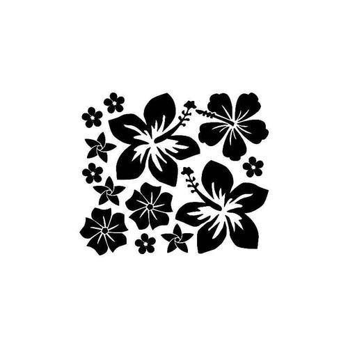 Hibiscus Flowers 2 Vinyl Sticker
