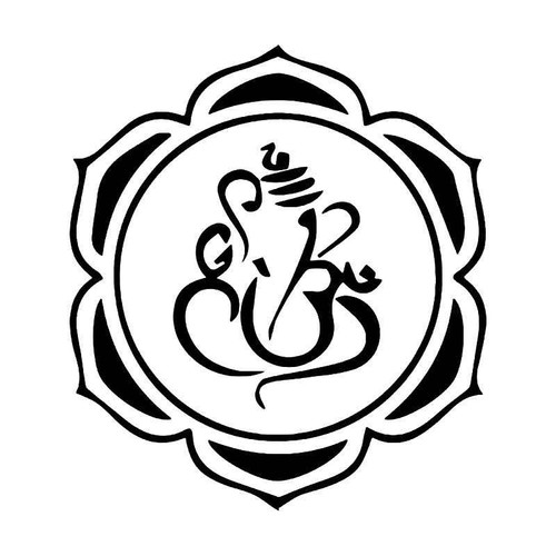 Hindu Om Ganesh Vinyl Sticker