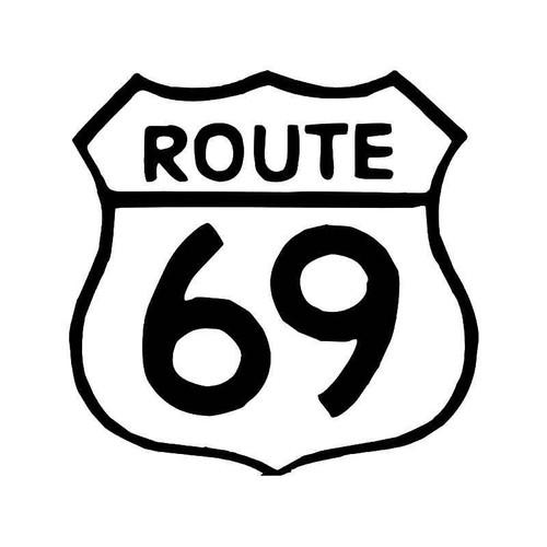 Historic Route 69 Highway Vinyl Sticker