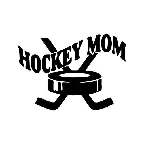 Hockey Mom Vinyl Sticker