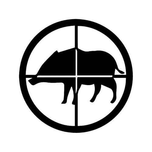 Hog Boar Fishing Scope Crosshairs Vinyl Sticker