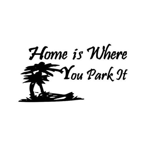 Home Palm Trees Vinyl Sticker