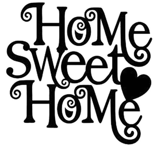 Home Sweet Home 1004 Vinyl Sticker
