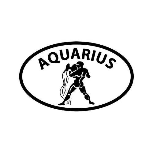 Horoscope Aquarius Symbol 2 Vinyl Sticker