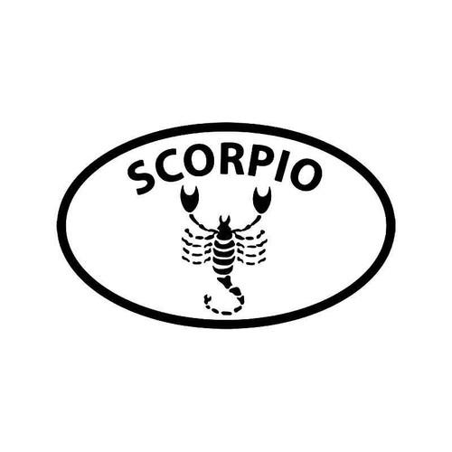 Horoscope Scorpio Symbol 2 Vinyl Sticker