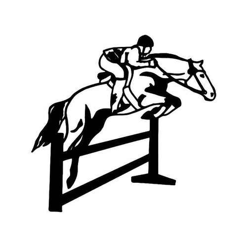 Horse Jumping Vinyl Sticker