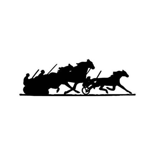 Horse Racing Chariot Vinyl Sticker