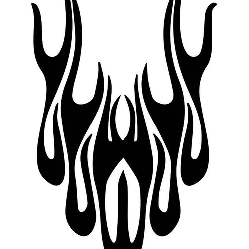 Hot Rod Flame Vinyl Sticker