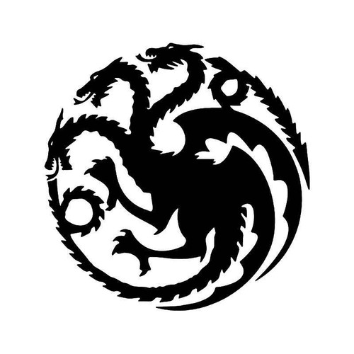House Targaryen Dragons Game Of Thrones Vinyl Sticker