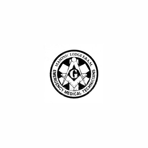 Masonic Emergency Technician Decal Size option will determine the size from the longest side Industry standard high performance calendared vinyl film Cut from Oracle 651 2.5 mil Outdoor durability is 7 years Glossy surface finish