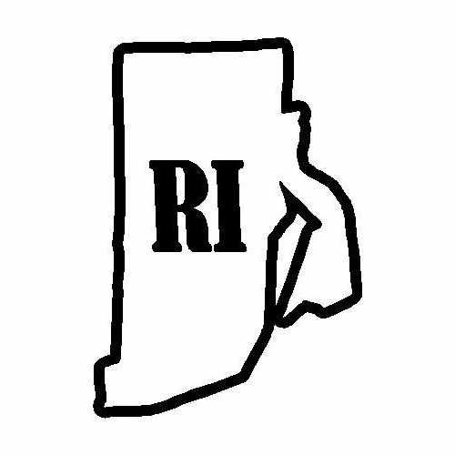 States Rhode Island  Vinyl Decal Sticker  Size option will determine the size from the longest side Industry standard high performance calendared vinyl film Cut from Oracle 651 2.5 mil Outdoor durability is 7 years Glossy surface finish