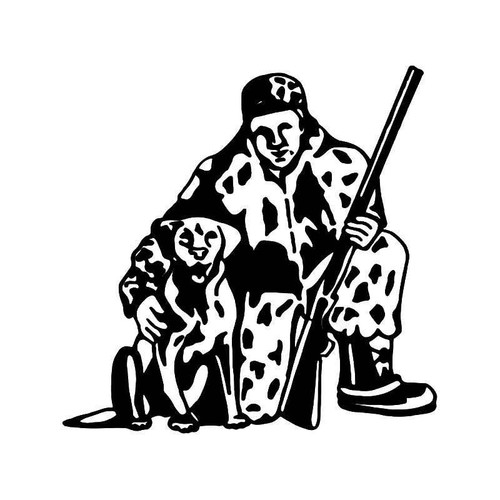 Hunting Dog Vinyl Sticker