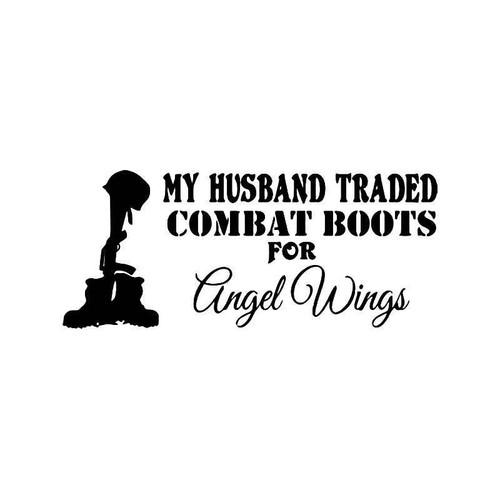 Hus Angel Wings Military Vinyl Sticker