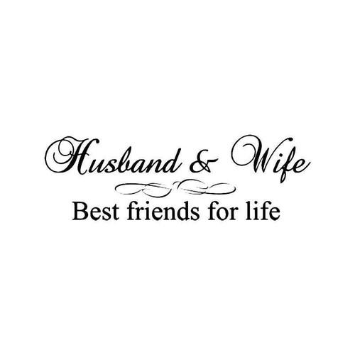 Hus Wife Best Friends Vinyl Sticker