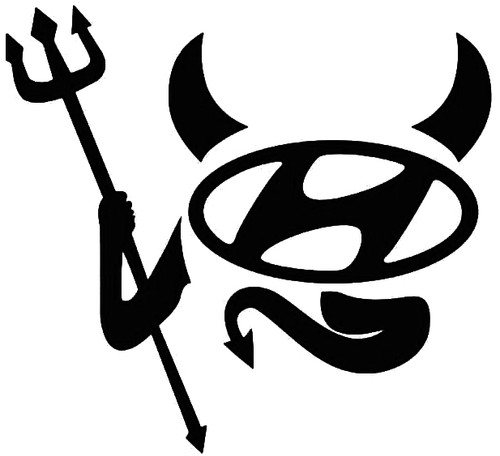 Hyundai Devil Decal