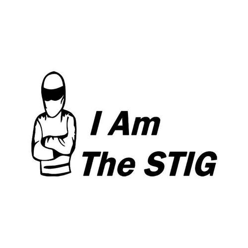 I Am The Stig 4 Vinyl Sticker