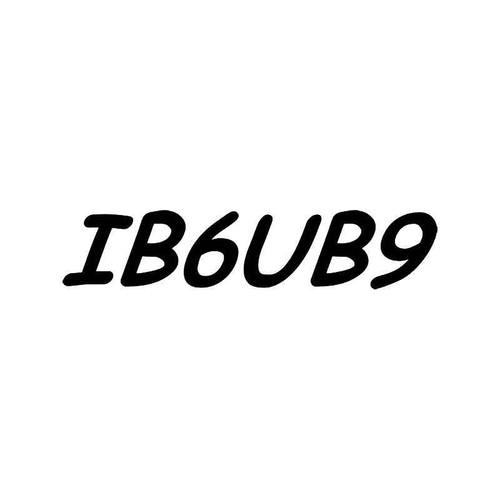 Ib6ub9 Sex Funny Vinyl Sticker