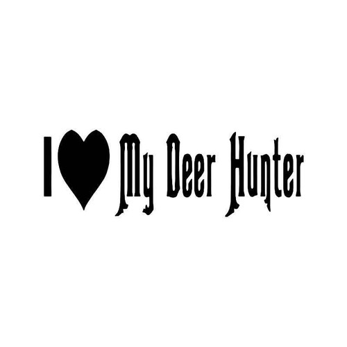 I Love Deer Hunter Hunting Vinyl Sticker