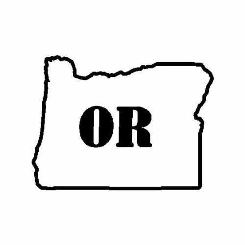 States Oregon  Vinyl Decal Sticker  Size option will determine the size from the longest side Industry standard high performance calendared vinyl film Cut from Oracle 651 2.5 mil Outdoor durability is 7 years Glossy surface finish