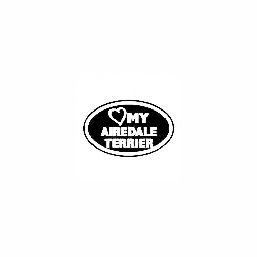 Heart My Airedale Terrier Oval Decal Size option will determine the size from the longest side Industry standard high performance calendared vinyl film Cut from Oracle 651 2.5 mil Outdoor durability is 7 years Glossy surface finish