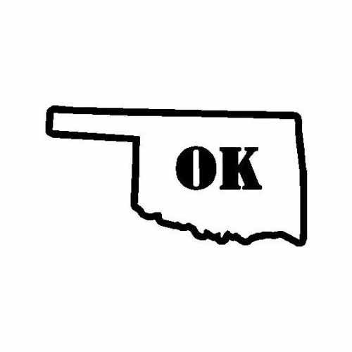 States Oklahoma  Vinyl Decal Sticker  Size option will determine the size from the longest side Industry standard high performance calendared vinyl film Cut from Oracle 651 2.5 mil Outdoor durability is 7 years Glossy surface finish