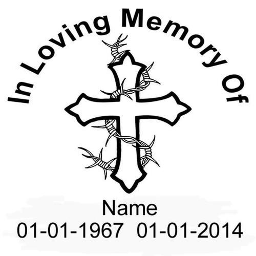 In Loving Memeory 363 Vinyl Sticker