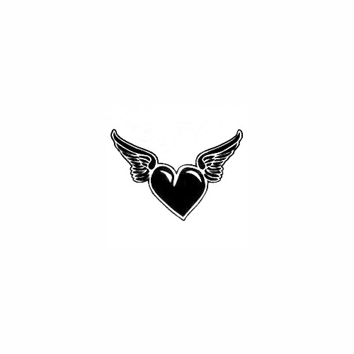 Heart With Angel Wings 03 Size option will determine the size from the longest side Industry standard high performance calendared vinyl film Cut from Oracle 651 2.5 mil Outdoor durability is 7 years Glossy surface finish
