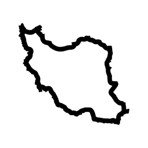 Iran Country Map Vinyl Sticker