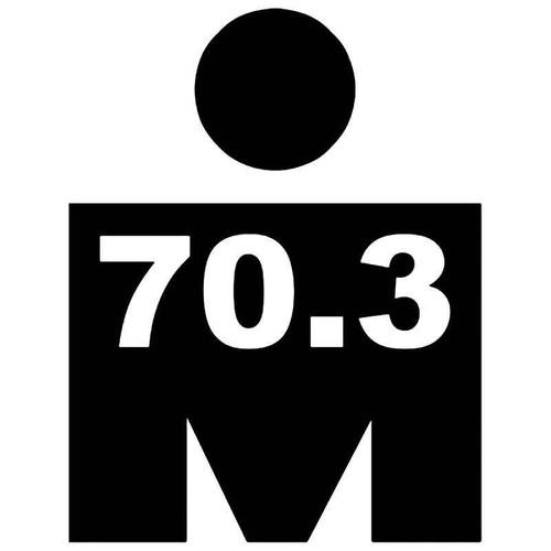 Ironman 70.3 Miles Vinyl Sticker