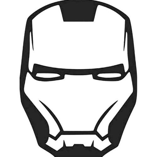 Iron Man Emblem Logo Vinyl Sticker