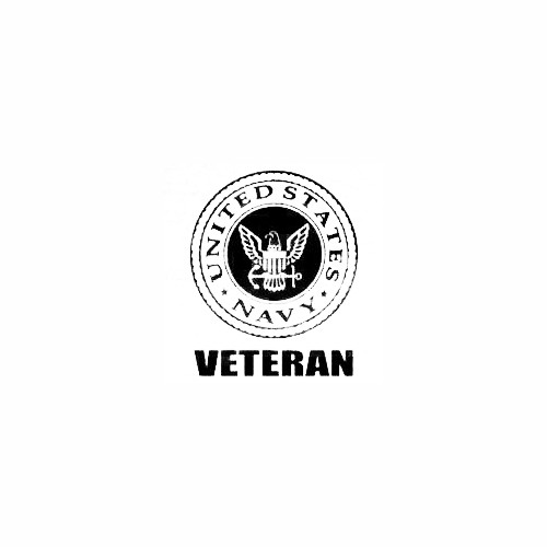 Navy Veteran Size option will determine the size from the longest side Industry standard high performance calendared vinyl film Cut from Oracle 651 2.5 mil Outdoor durability is 7 years Glossy surface finish