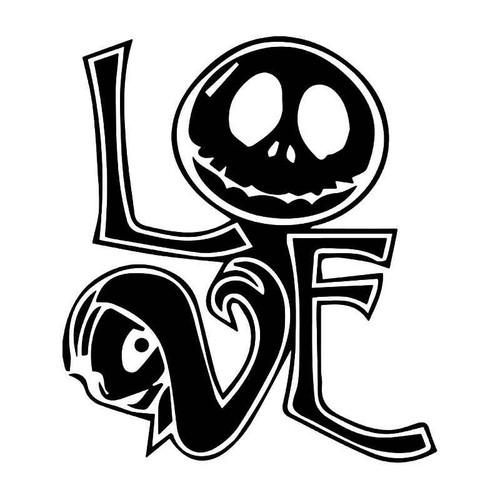 Jack Sally Skellington Love Vinyl Sticker