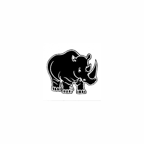 Sweet Rhino Decal Size option will determine the size from the longest side Industry standard high performance calendared vinyl film Cut from Oracle 651 2.5 mil Outdoor durability is 7 years Glossy surface finish