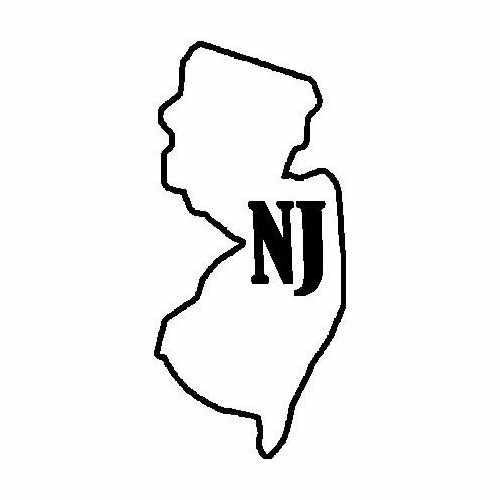 States New Jersey  Vinyl Decal Sticker  Size option will determine the size from the longest side Industry standard high performance calendared vinyl film Cut from Oracle 651 2.5 mil Outdoor durability is 7 years Glossy surface finish