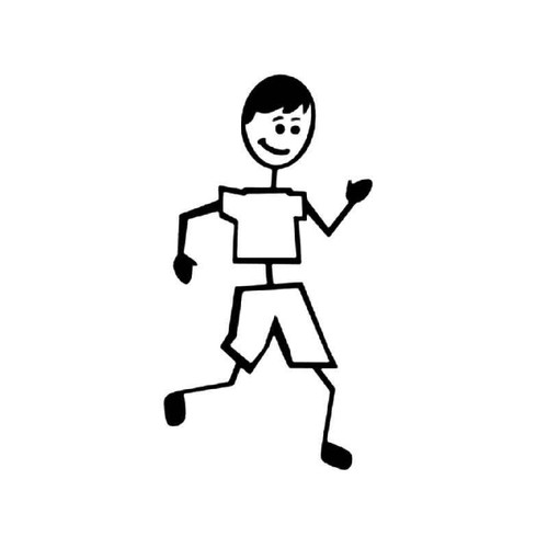 Jogging Sport Stick Figure Vinyl Sticker
