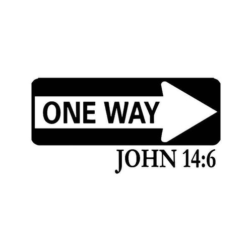 John 146 Bible Vinyl Sticker
