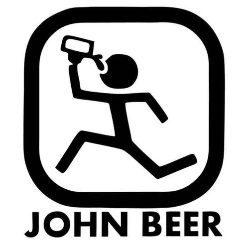 John Beer John Deere Parody 1985 Vinyl Sticker