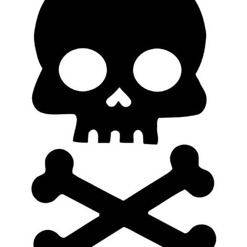 Jolly Roger Skull Crossbones Pirate 3 Vinyl Sticker