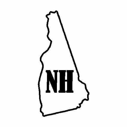 States New Hampshire  Vinyl Decal Sticker  Size option will determine the size from the longest side Industry standard high performance calendared vinyl film Cut from Oracle 651 2.5 mil Outdoor durability is 7 years Glossy surface finish
