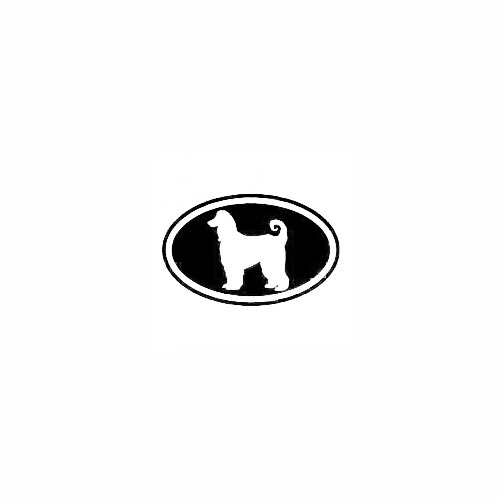 Afghan Hound Cut Out Oval Decal Size option will determine the size from the longest side Industry standard high performance calendared vinyl film Cut from Oracle 651 2.5 mil Outdoor durability is 7 years Glossy surface finish