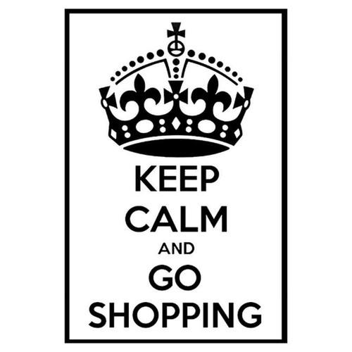 Keep Calm And Go Shopping 652 Vinyl Sticker