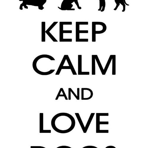 Keep Calm Love Dogs Vinyl Sticker